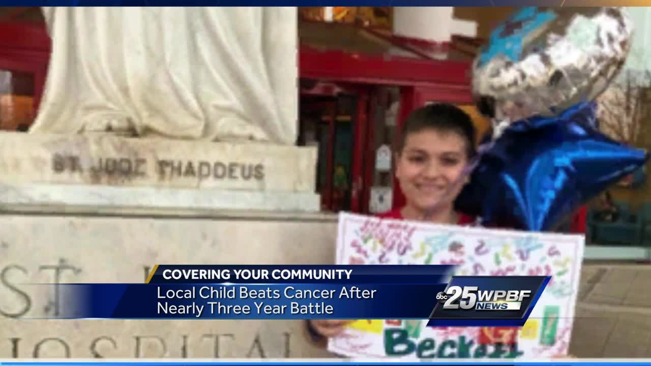 Local boy returns home after three year cancer battle