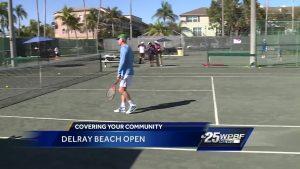 Sandra Shaw plays tennis with John McEnroe