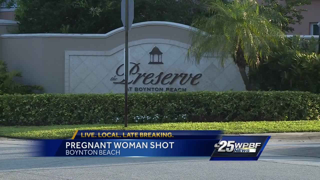 Pregnant woman shot inside her home