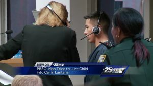 PBSO: Man tried to lure child into car
