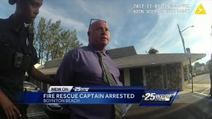 New video released from arrest of Palm Beach County Fire Rescue Captain
