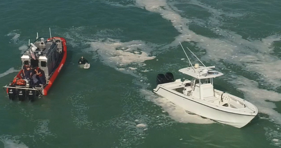 Drone video captures moment two people are rescued from the Lake Worth Inlet