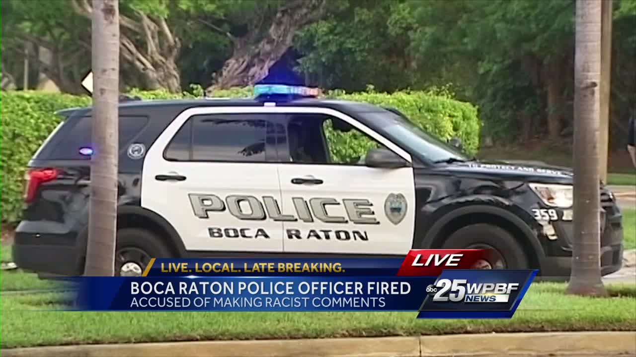 Boca Raton Police Officer fired