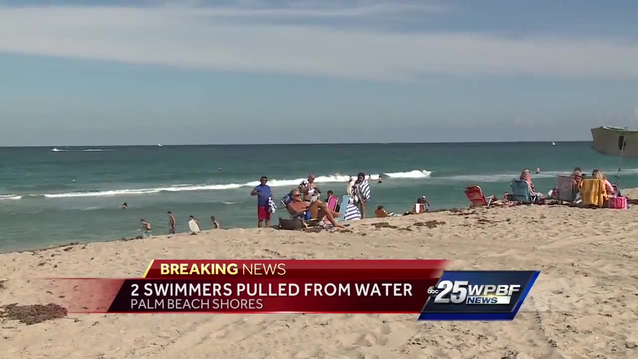 2 swimmers pulled from water in Palm Beach Shores