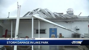 Storm damage in Lake Park