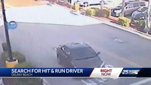 Search for hit and run driver in Delray Beach
