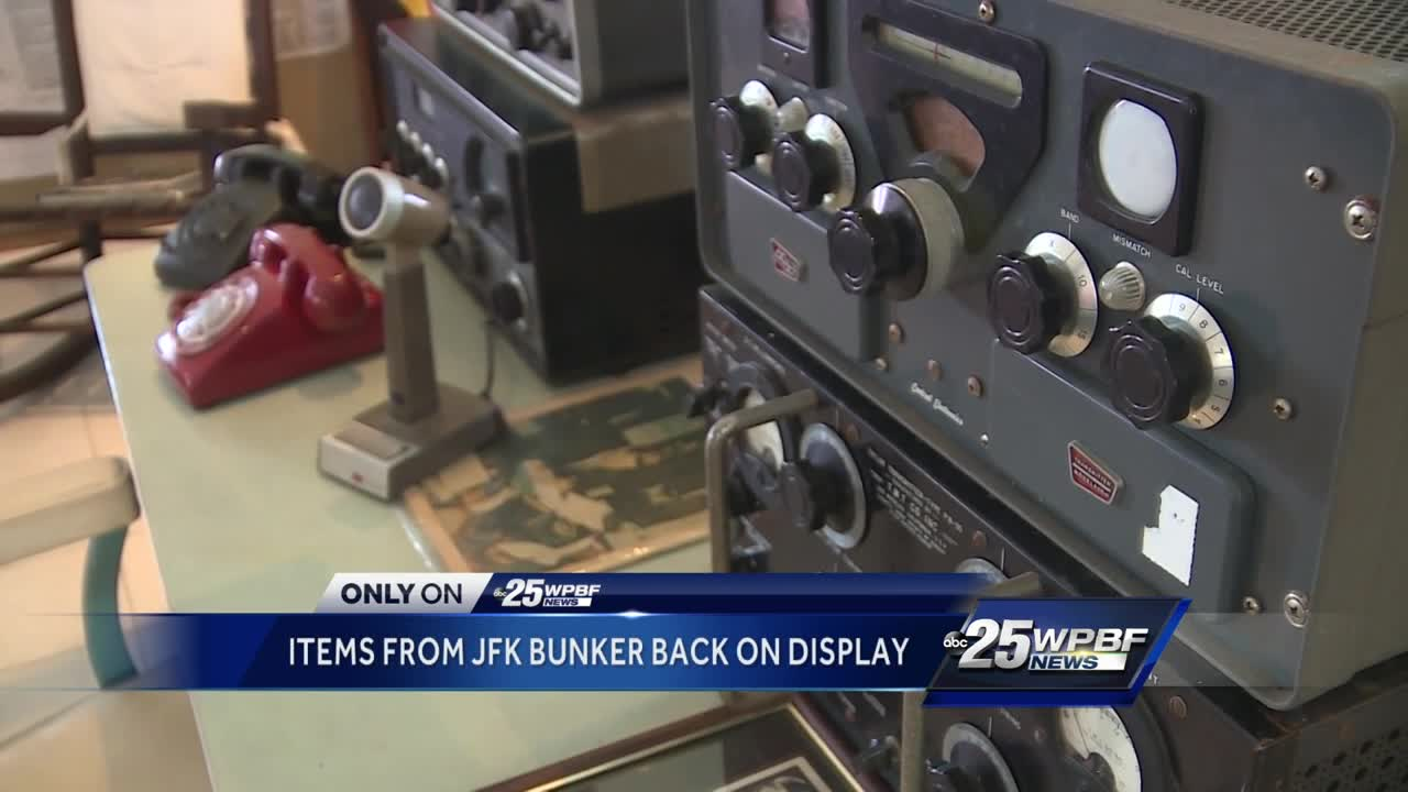 Items from JFK bunker back on display