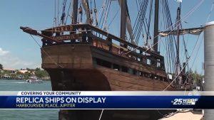 Replica ships on display in Jupiter