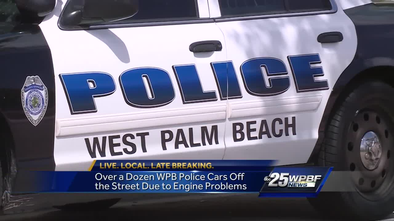 West Palm Beach police car engines damaged