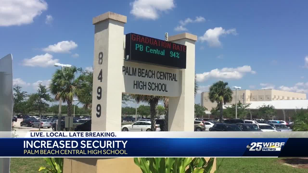 Increased security at Palm Beach Central High School