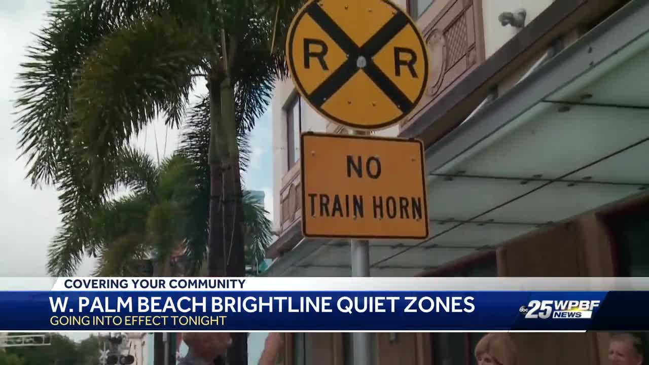 'Quiet Zones' begin Monday in West Palm Beach