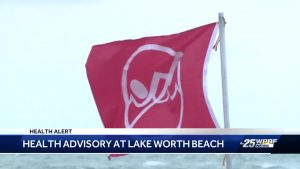 Health advisory at Lake Worth Beach