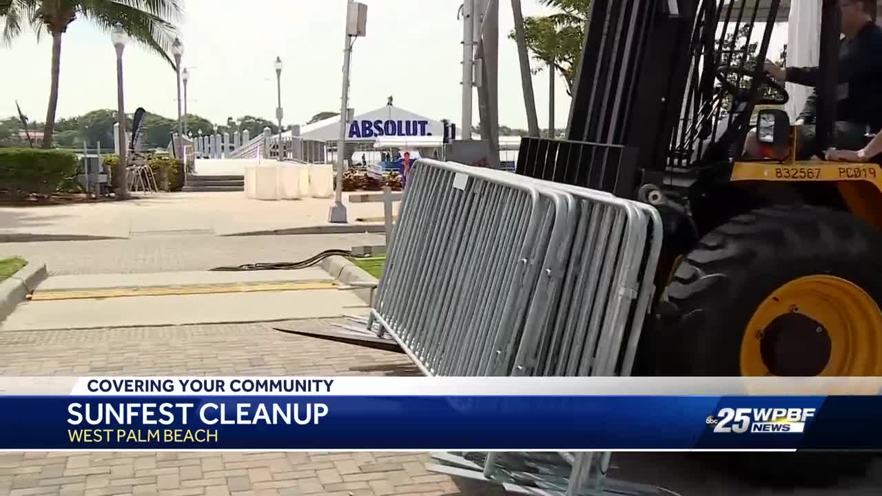 Sunfest cleanup in West Palm Beach