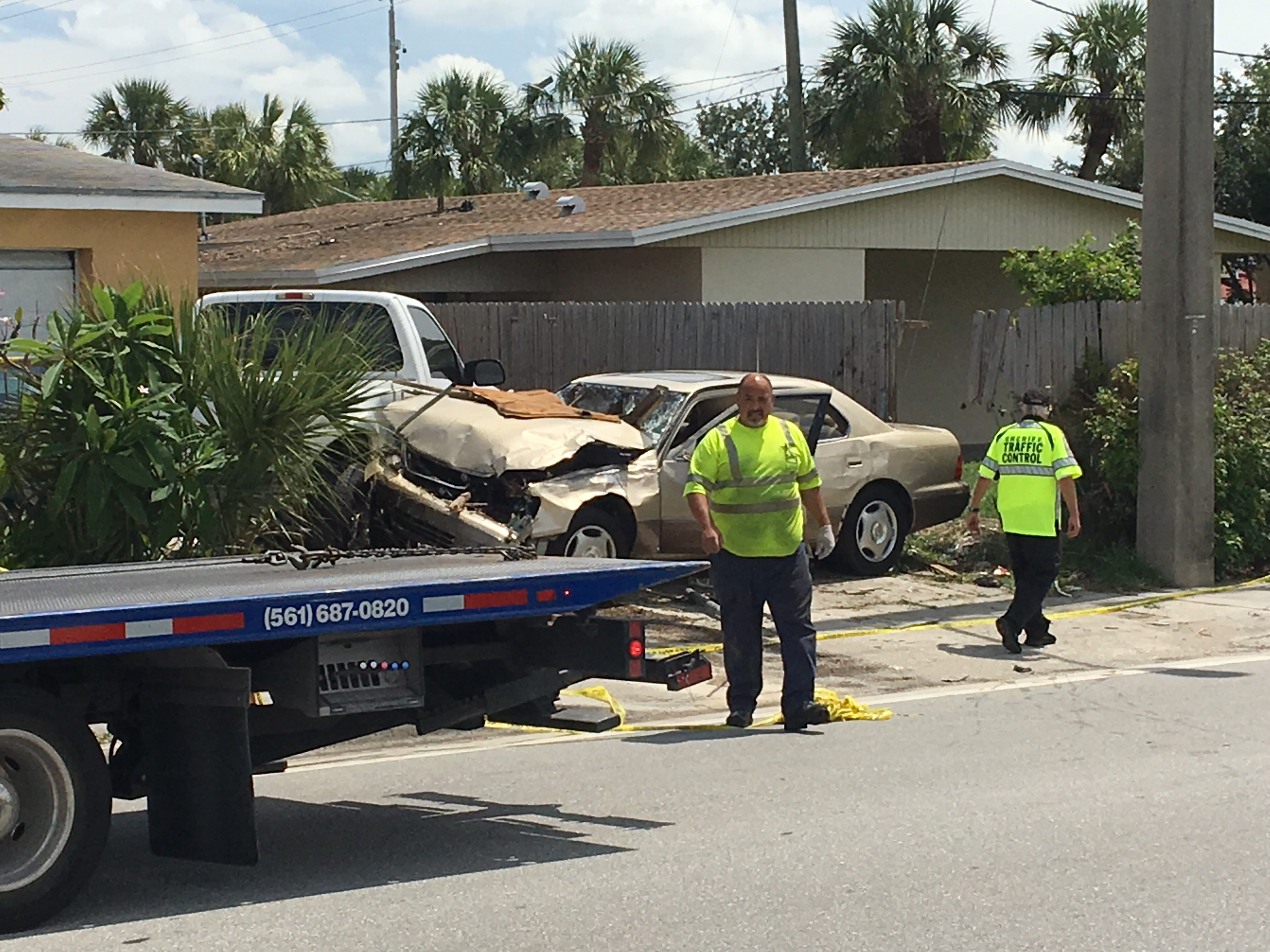 Palm Beach County Sheriffs Office  are on the scene of a fatal accident near 45th Street and N. Shore Drive.