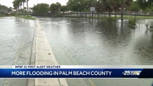 Flooded streets in Palm Beach County