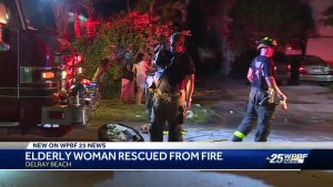 Elderly woman rescued from fire in Delray Beach