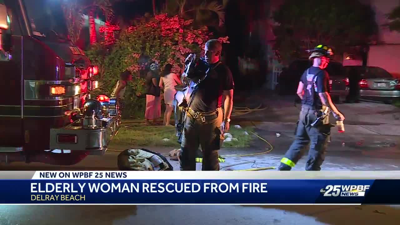 Elderly woman rescued from fire in Delray Beach