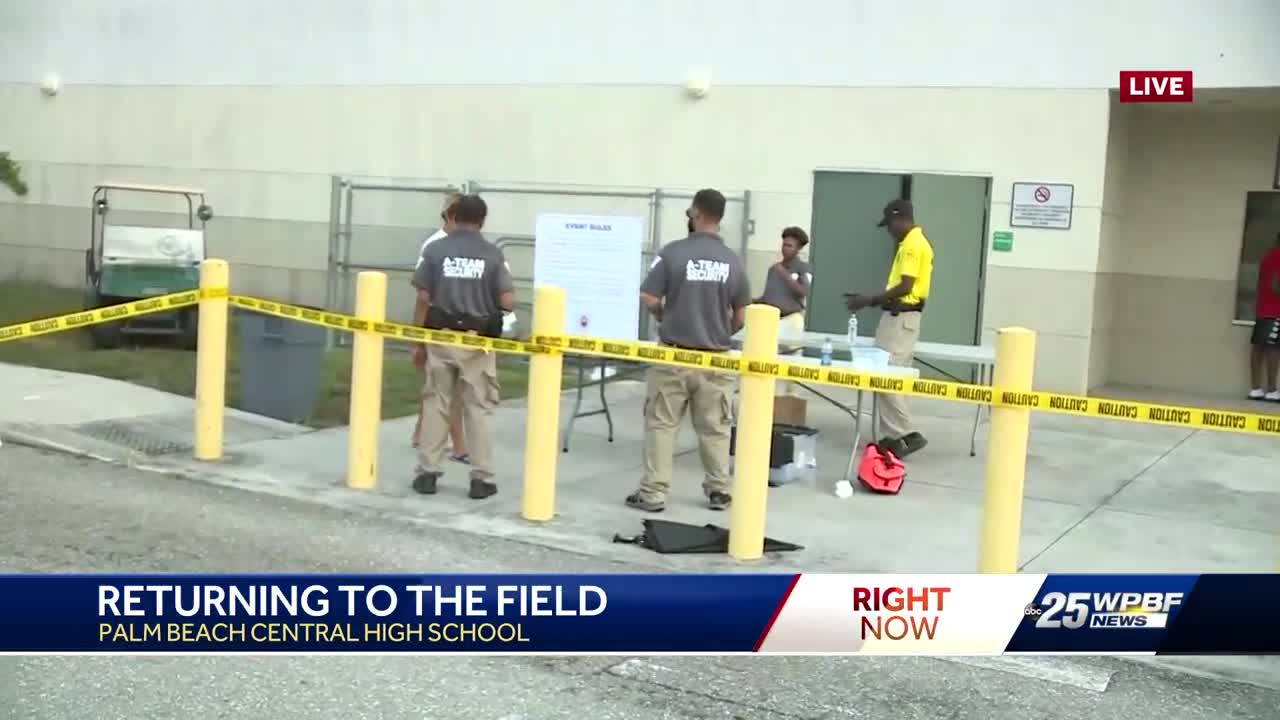 Heightened security at Palm Beach Central rescheduled football game