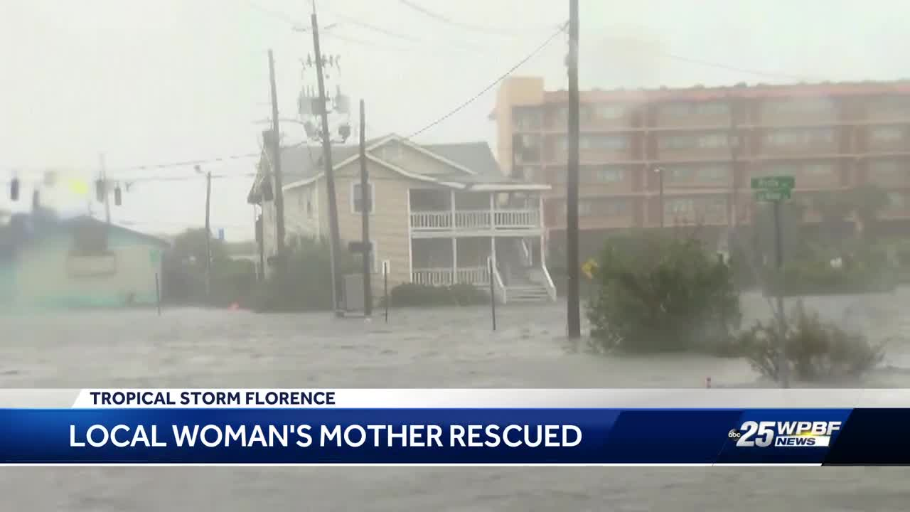 Local woman's mother rescued from NC flooding