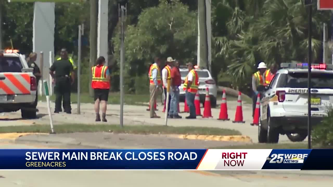 Portion of road reopens after sewer main break