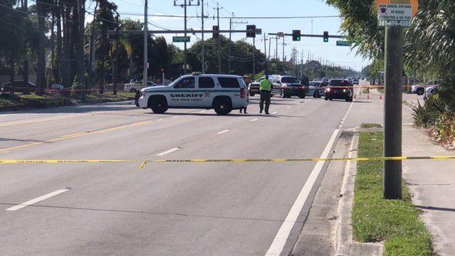 Vehicle crash closes road