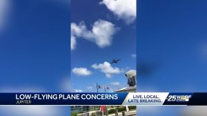 Low-flying military aircraft spotted flying in Jupiter