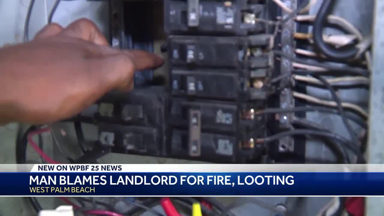 Man blames landlord for fire