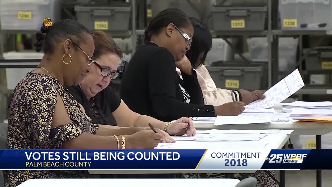Votes still being counted in Palm Beach County