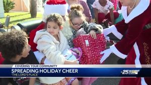 76 kids receive presents from a family of secret Santas
