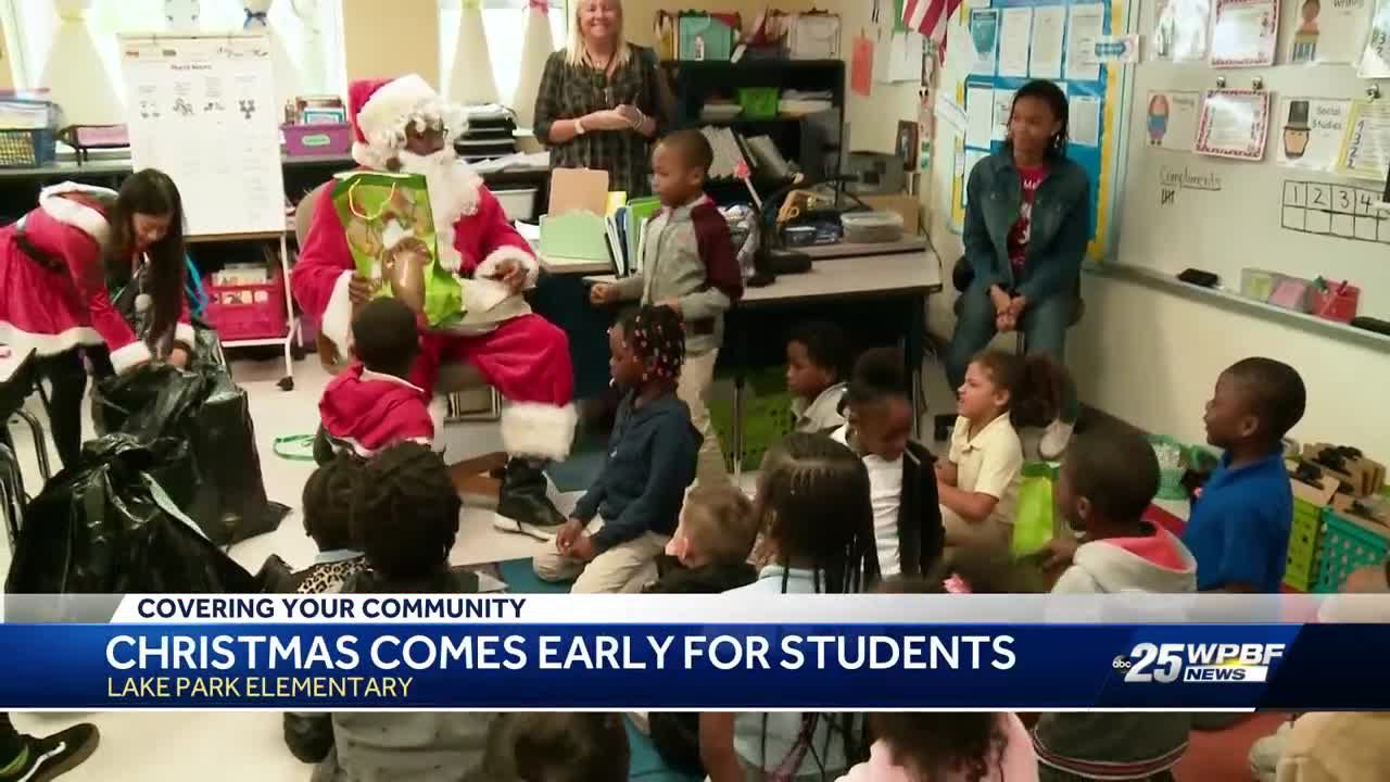 Christmas came early for students at Lake Park Elementary