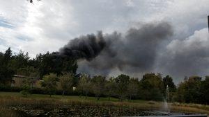 Crews battling brush fire in Wellington
