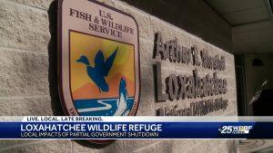 Loxahatchee National Wildlife Preserve feeling impact of federal shutdown