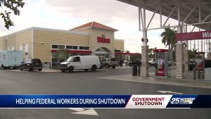 Free gas for federal workers during shutdown