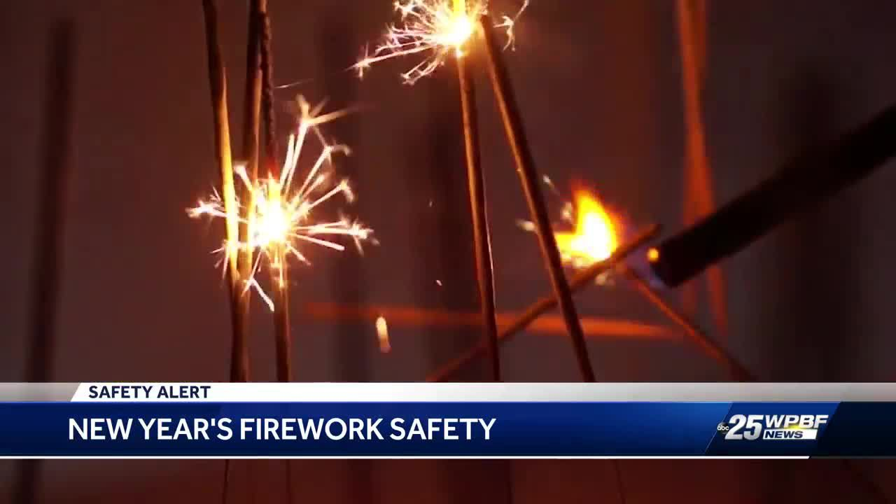 Handle New Year's fireworks safely