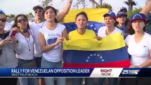 Rally held for Venezuelan opposition leader