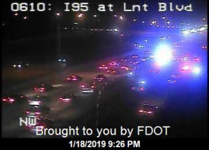 Fatal crash on NB I-95 near Lantana Road; 3 right lanes blocked
