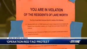 Lake Worth tenants protest Operation Red Tag