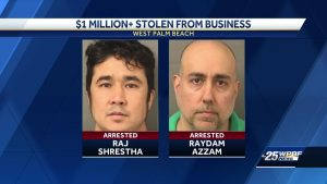 Men accused of stealing $1 million from WPB business