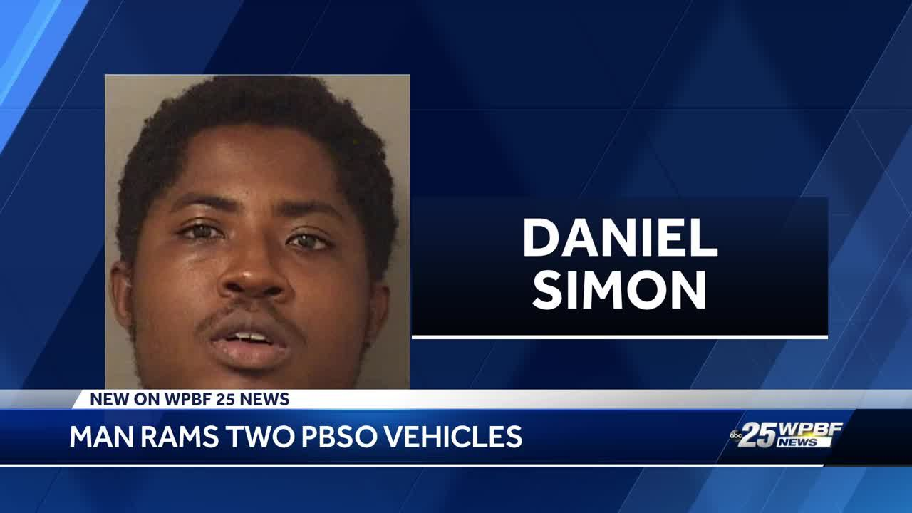 West Palm Beach man intentionally rams into two PBSO vehicles