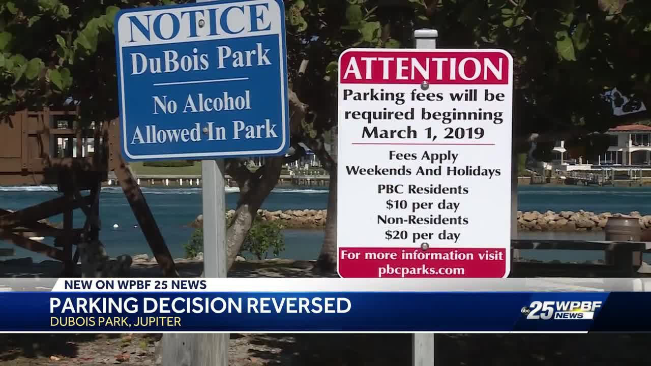 County commissioners scrap parking fee plan at Dubois Park in Jupiter
