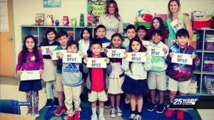 First lady visits West Palm Beach elementary school