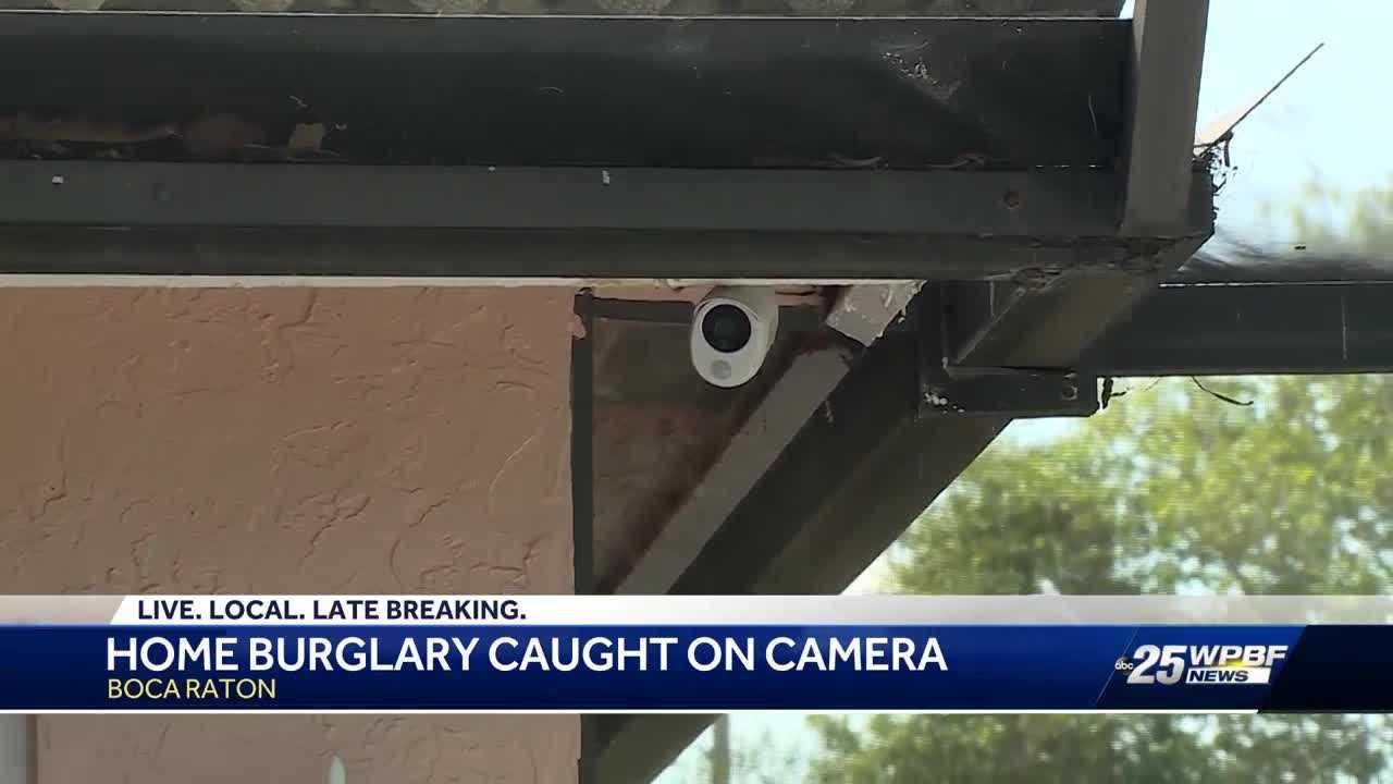 Security cameras capture burglars ransacking home