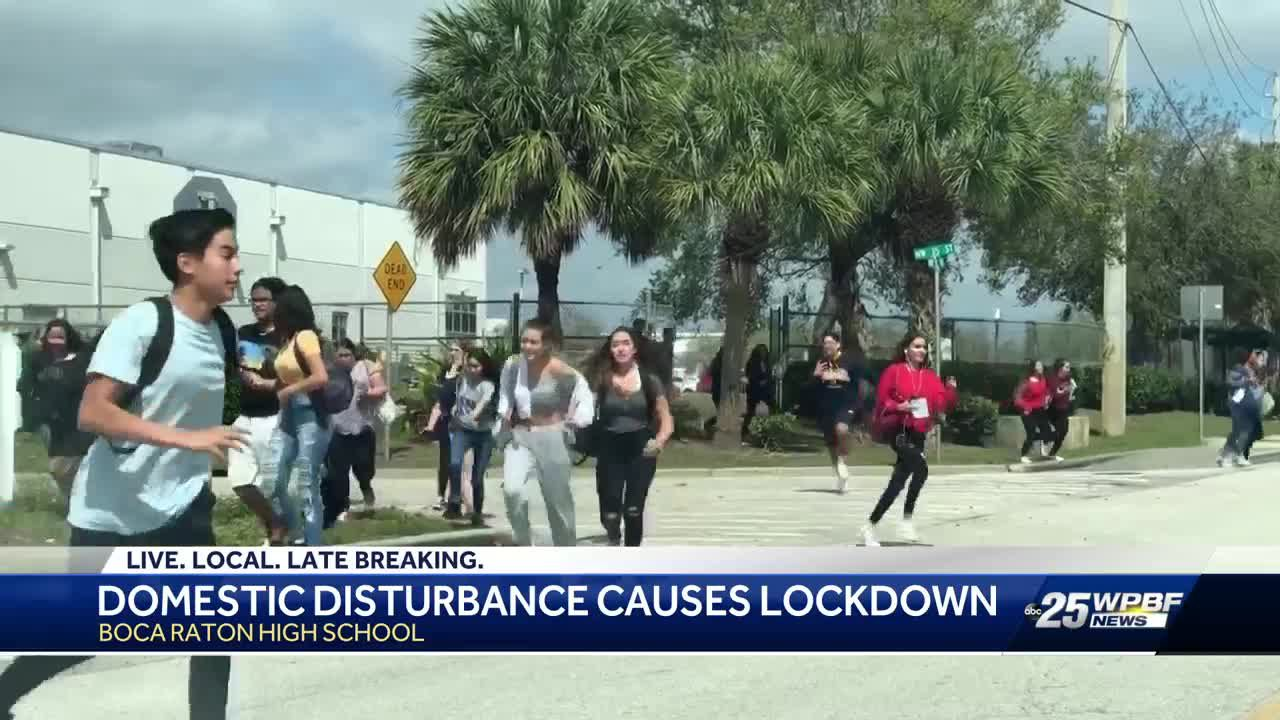 Boca Raton High School placed on code red lockdown for more than an hour