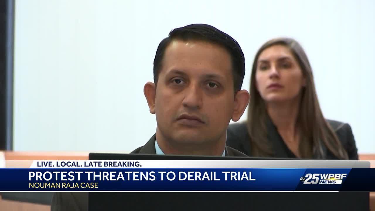 Corey Jones demonstrators concern judge over possible mistrial in Nouman Raja trial