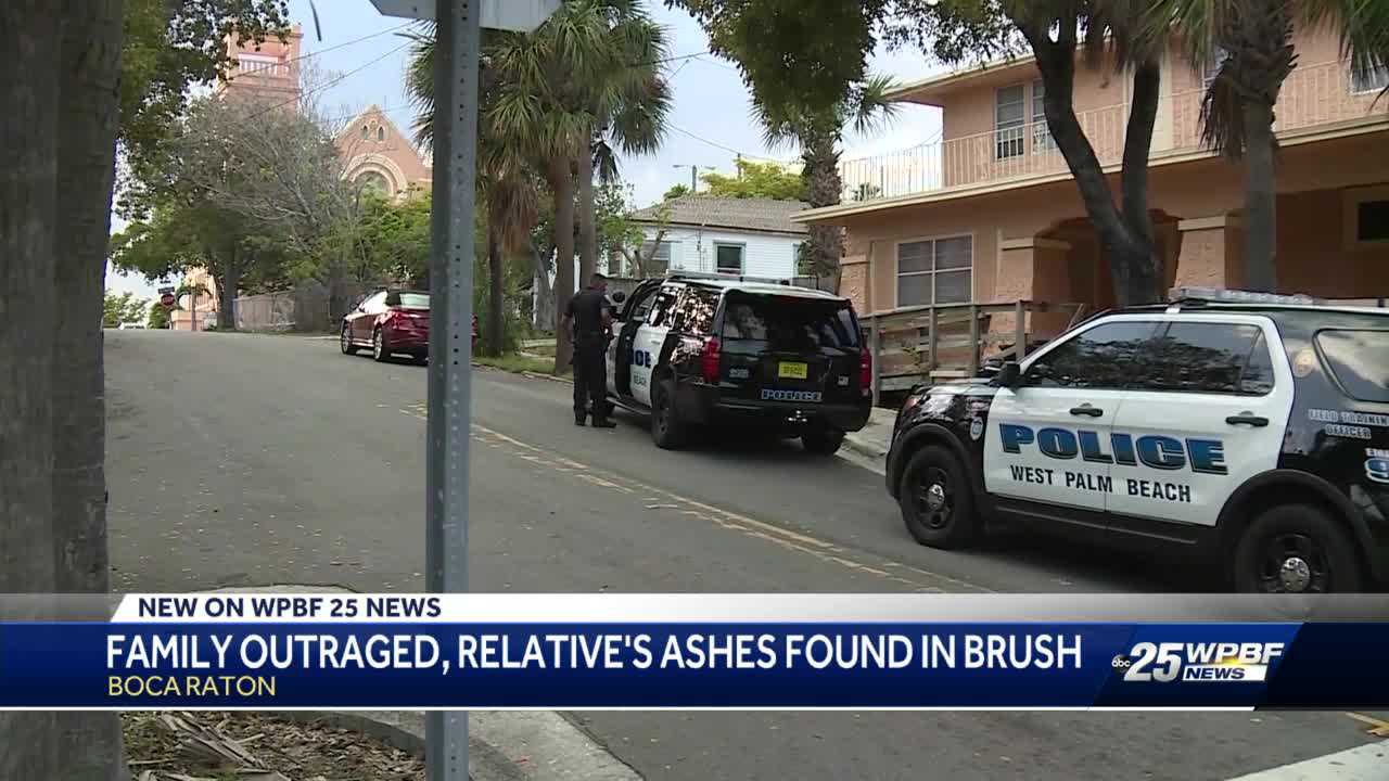 Family upset after relative's ashes found in brush