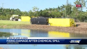 Crews continue to work at site of chemical spill near Jupiter Farms