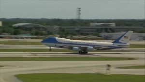 President played golf in West Palm Beach Sunday morning; back at Mar-A-Lago for an afternoon departure back t o D.C.