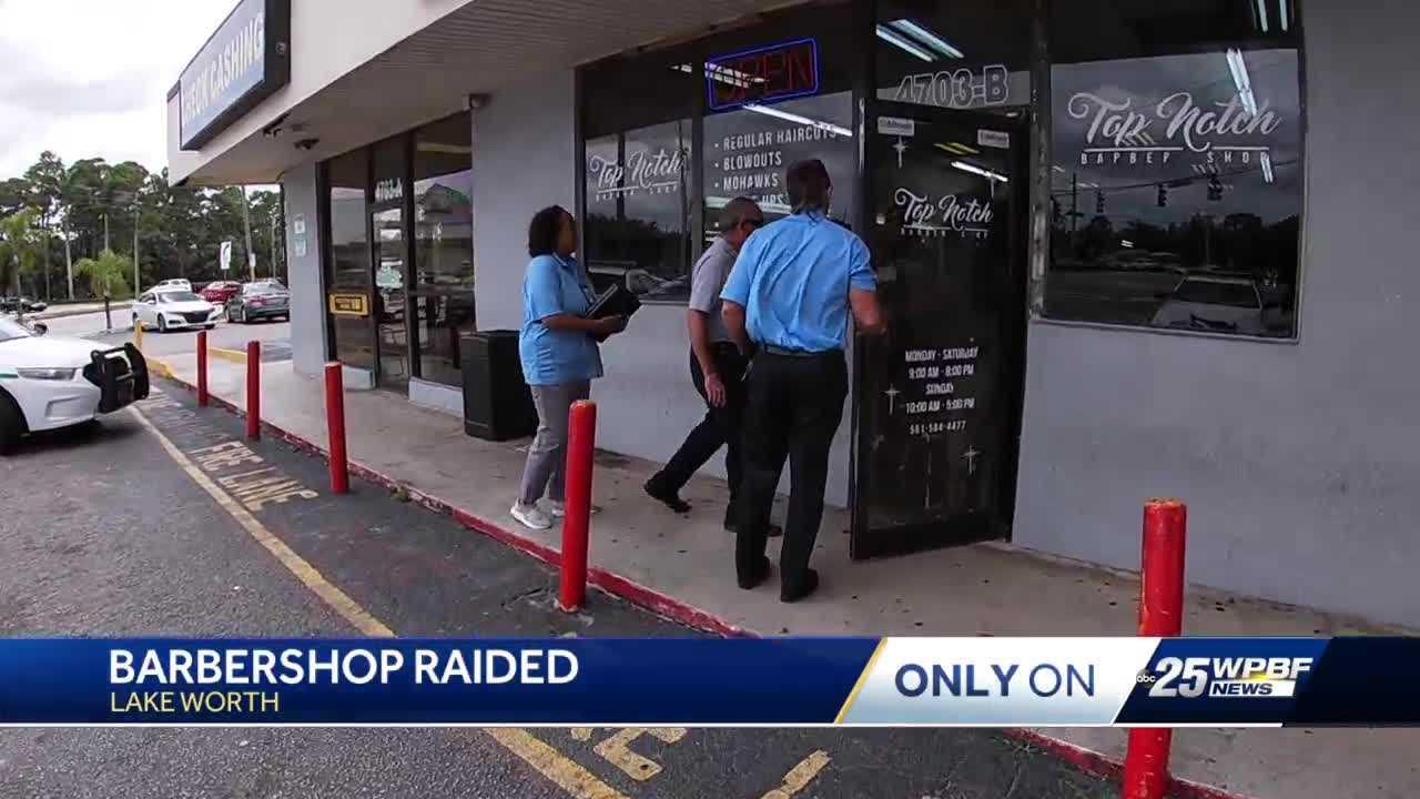 Lake Worth barbershop raided