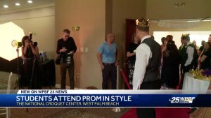 Students living with autism celebrated prom today