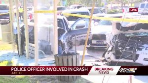 Jupiter police officer involved in crash
